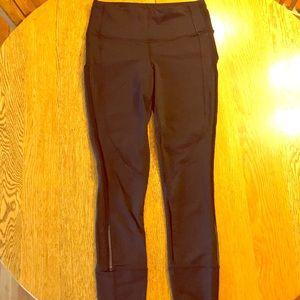 Lululemon 7/8 black mesh leggings sz8